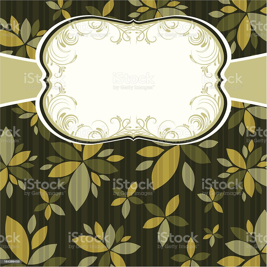 green  background with decorative flowers royalty-free stock vector art