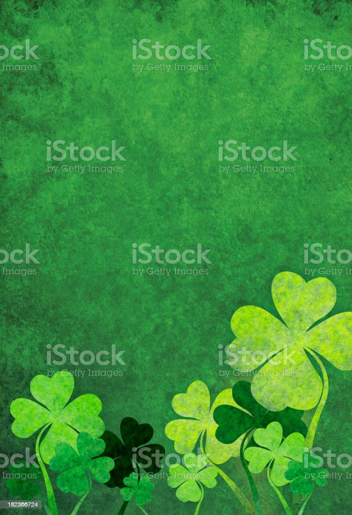 green background with shamrocks royalty-free stock vector art