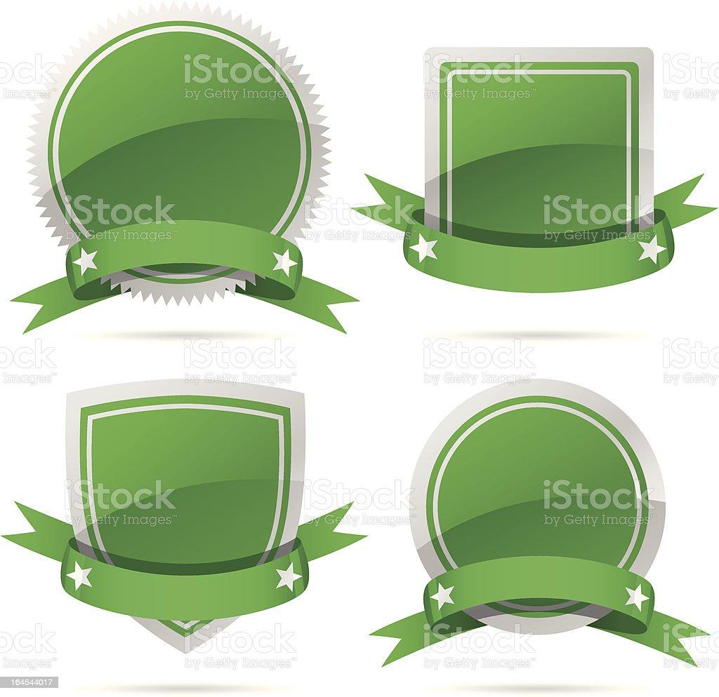 Green Badges royalty-free stock vector art