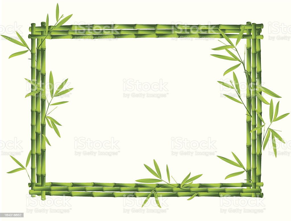 Green bamboo frame royalty-free stock vector art