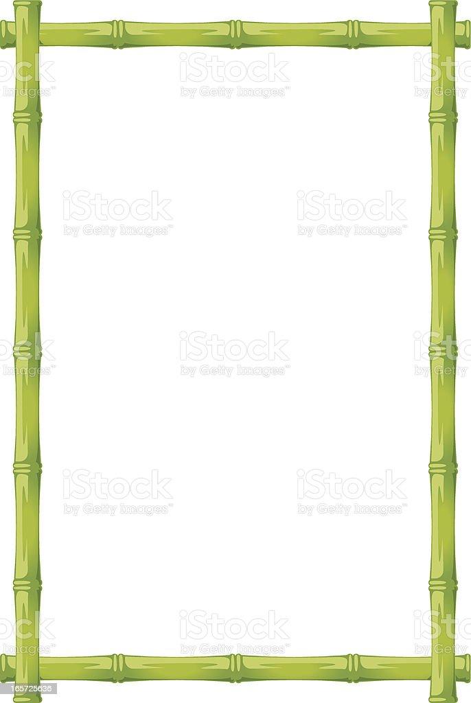 green bamboo vector art illustration