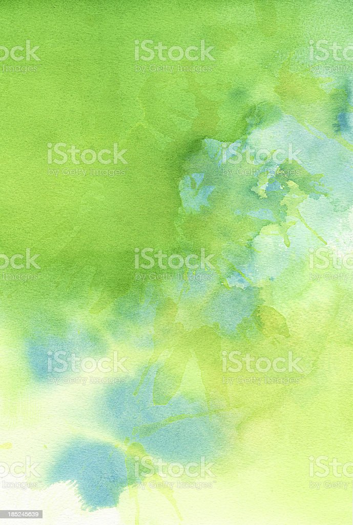 Green Blue Background Abstract Watercolor Painting royalty-free stock vector art