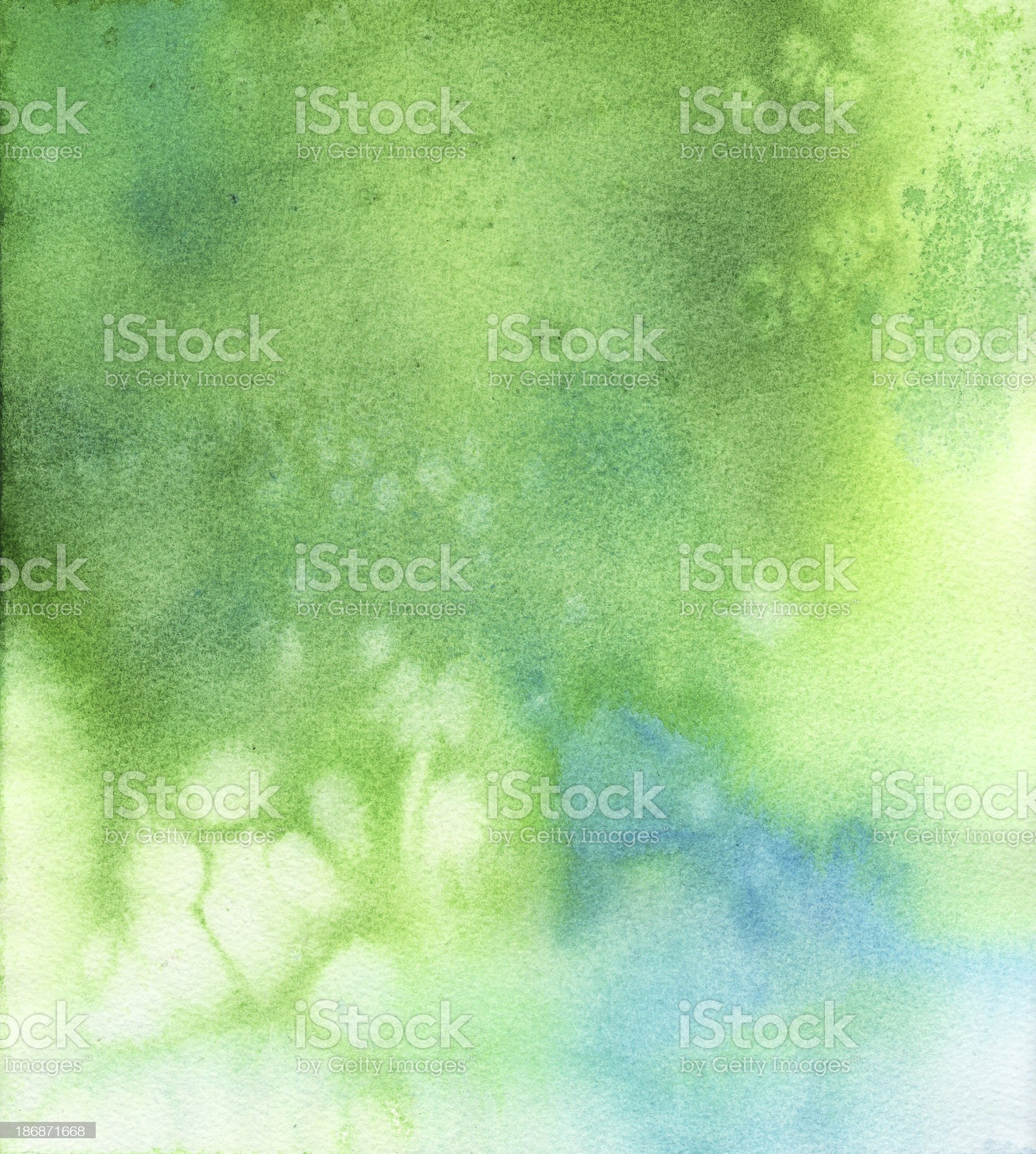 Green Blue Background  Watercolor Painting royalty-free stock vector art