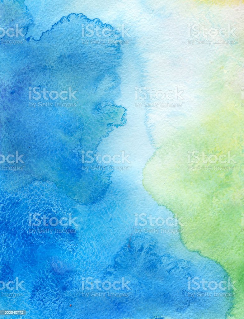 Green blue watercolor background vector art illustration