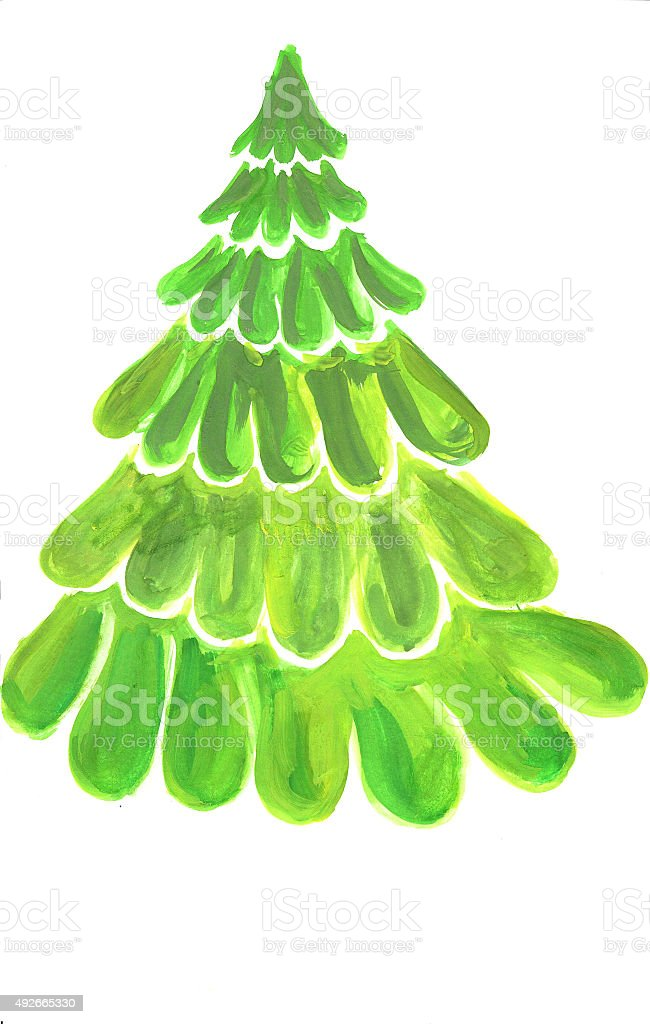 Verde albero di Natale illustrazione royalty-free
