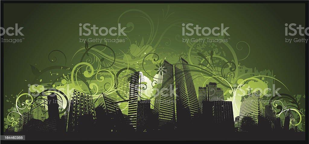 Green city design royalty-free stock vector art