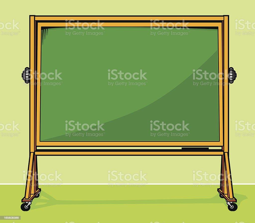 Green Classroom Style Chalkboard Easel royalty-free stock vector art