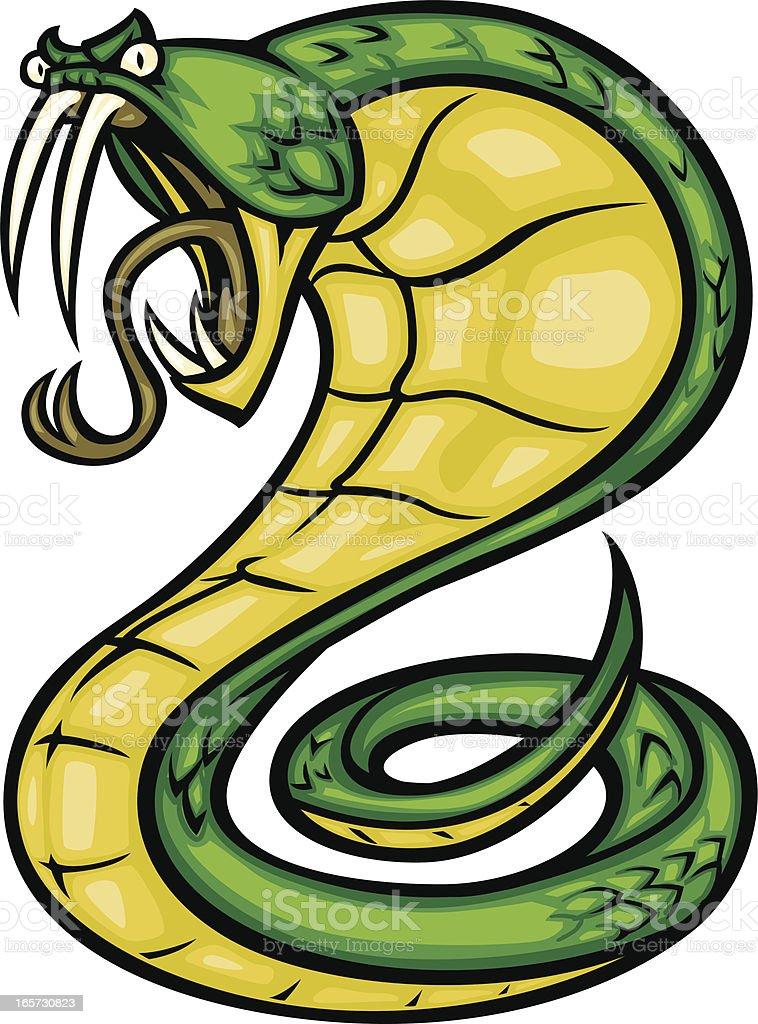 green cobra royalty-free stock vector art