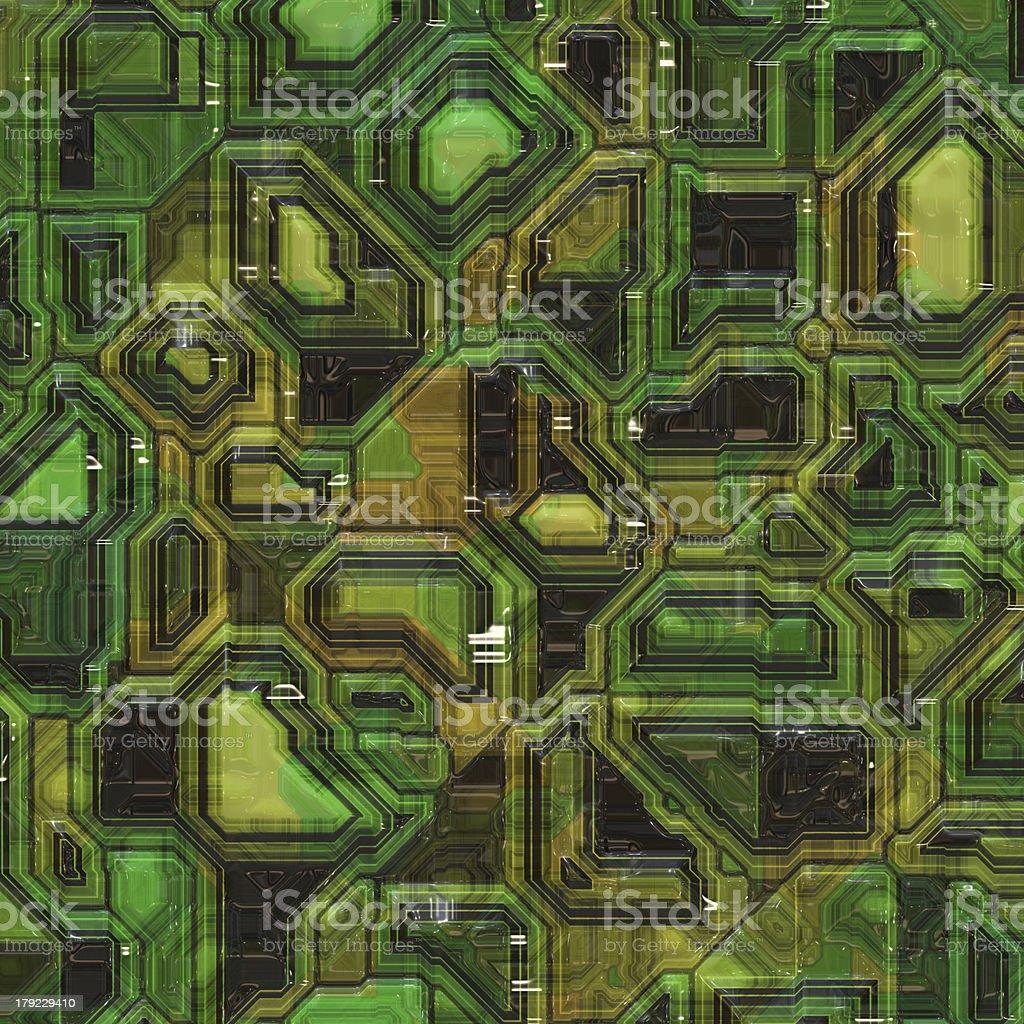 green computer chip royalty-free stock vector art