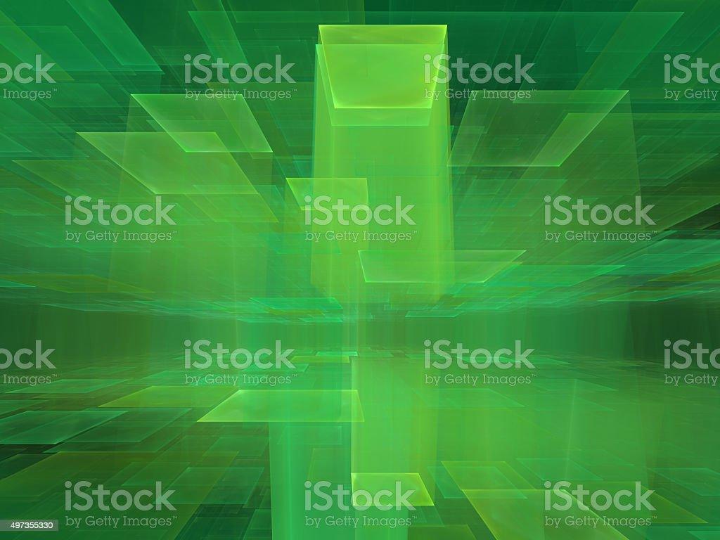 green cyberspace vector art illustration