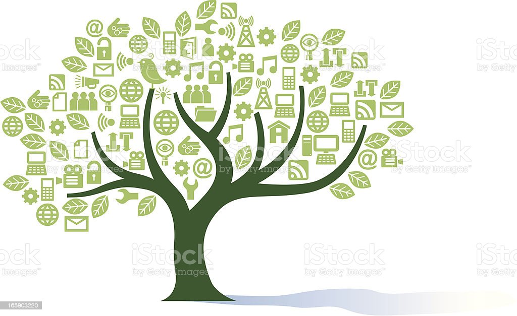 Green digital tree. royalty-free stock vector art