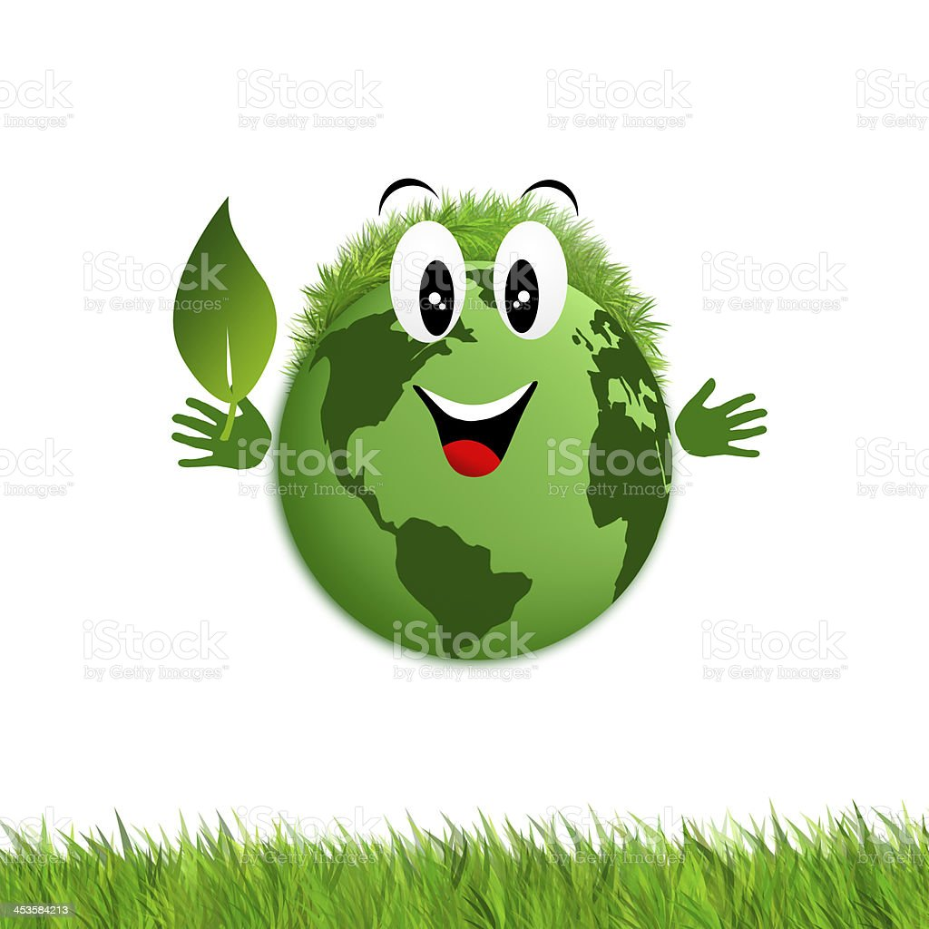 Green earth for ecology royalty-free stock vector art