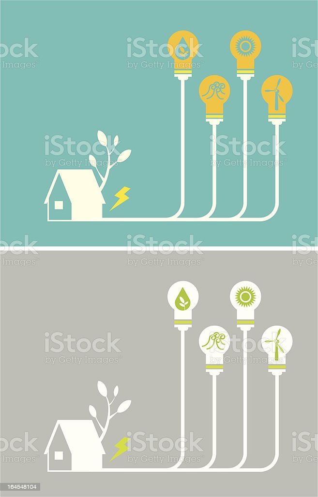 Green Energy Solutions abstract royalty-free stock vector art