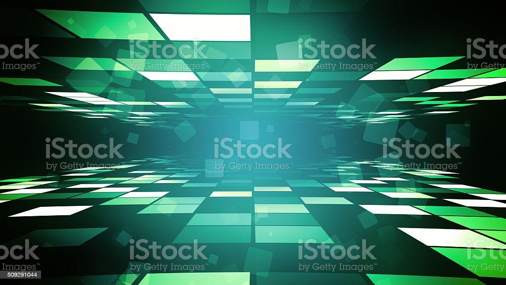 Green Fashion Corridor vector art illustration