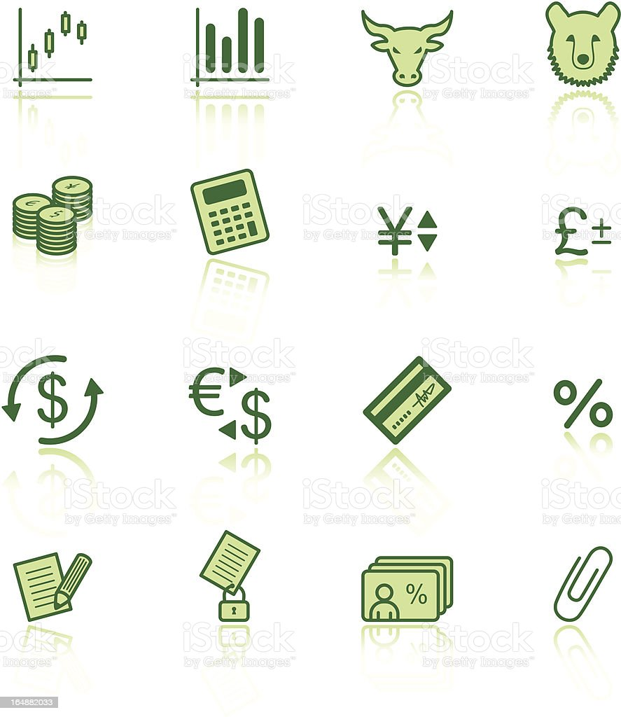 green finance icons royalty-free stock vector art