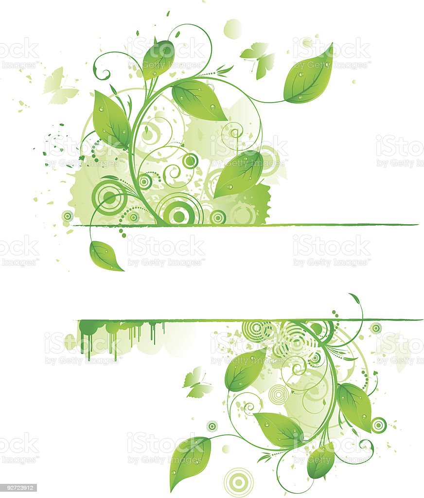 green floral border royalty-free stock vector art