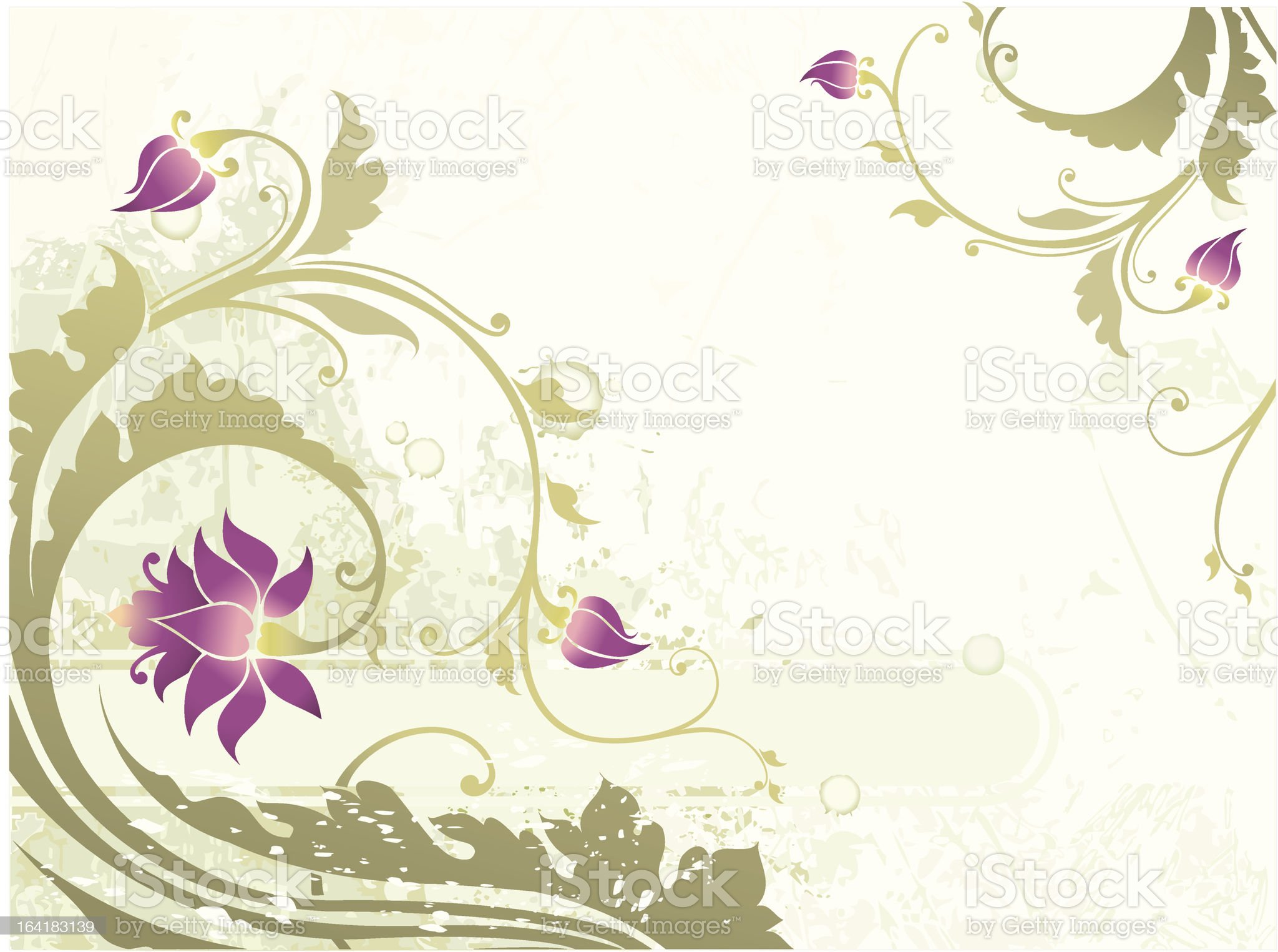green floral ornament royalty-free stock vector art