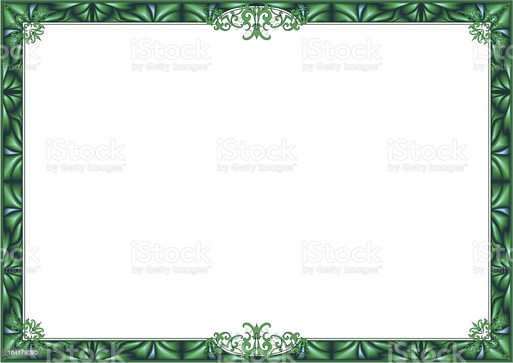 Green frame. royalty-free stock vector art