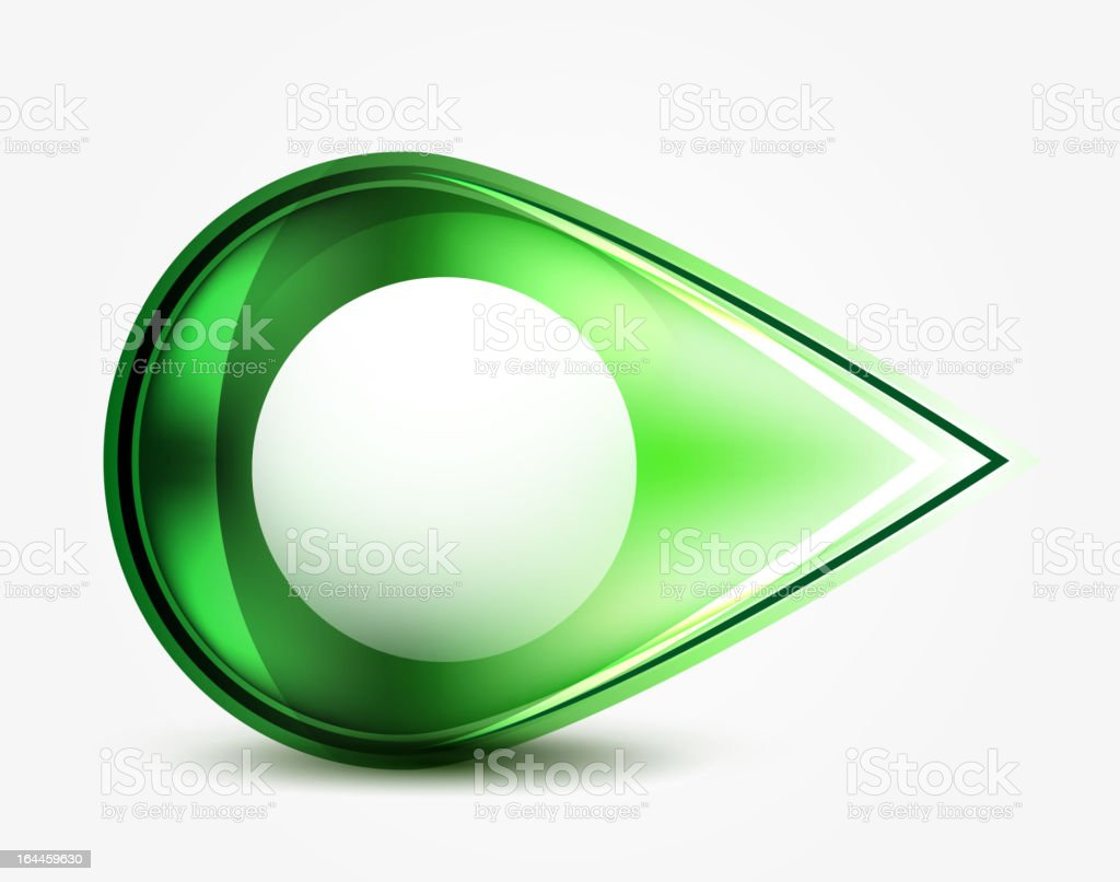 Green glass drop royalty-free stock vector art