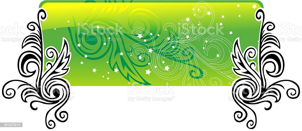 Green glossy banner royalty-free stock vector art