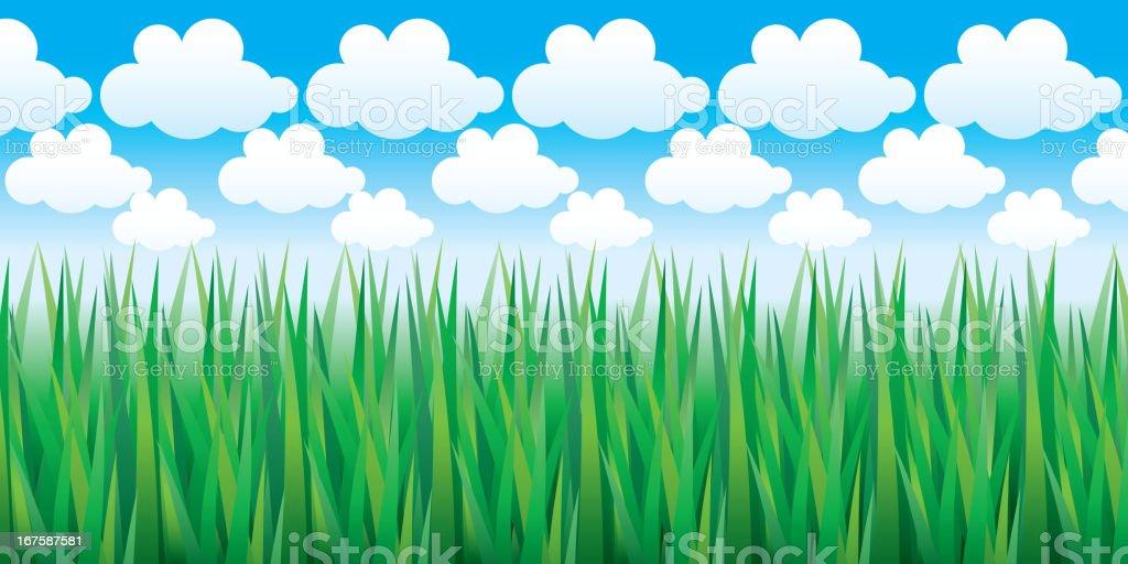 Green grass. Multi-level stereogram royalty-free stock vector art