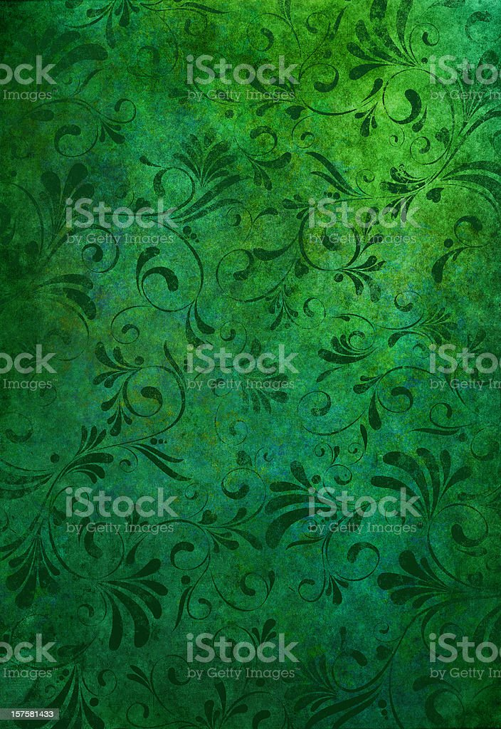green grunge floral background royalty-free stock vector art
