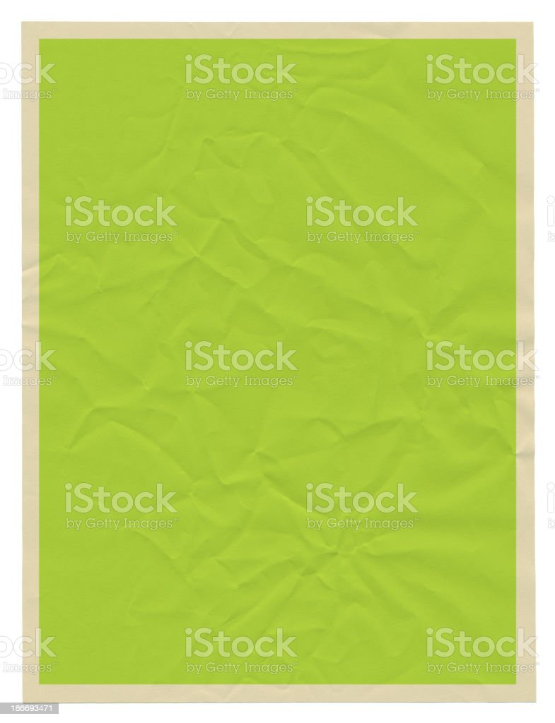 Green Grunge Poster Paper Frame Slightly Damaged RoughTexture Background royalty-free stock vector art