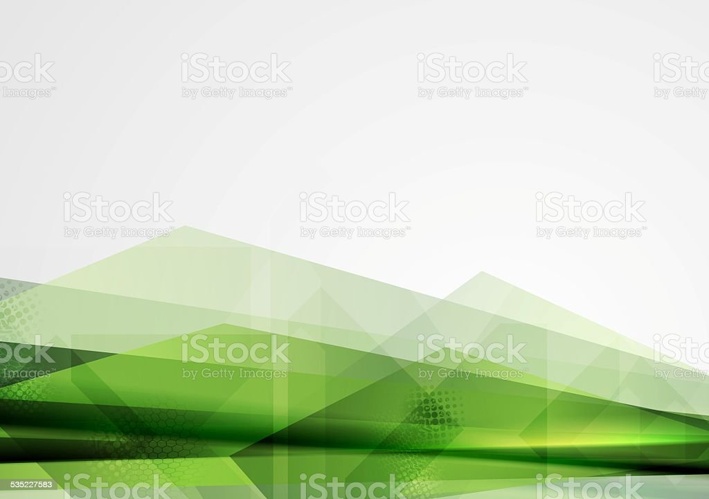 Green grunge tech shapes abstract background vector art illustration