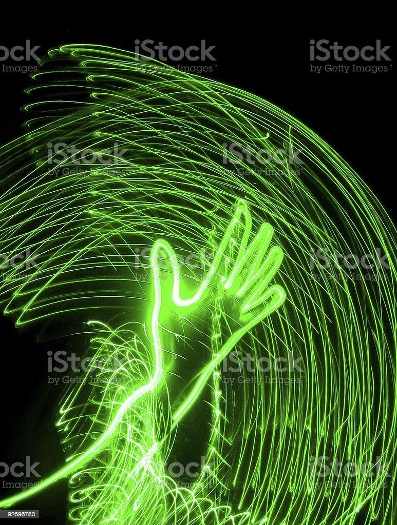 Green Hand Lighting royalty-free stock vector art