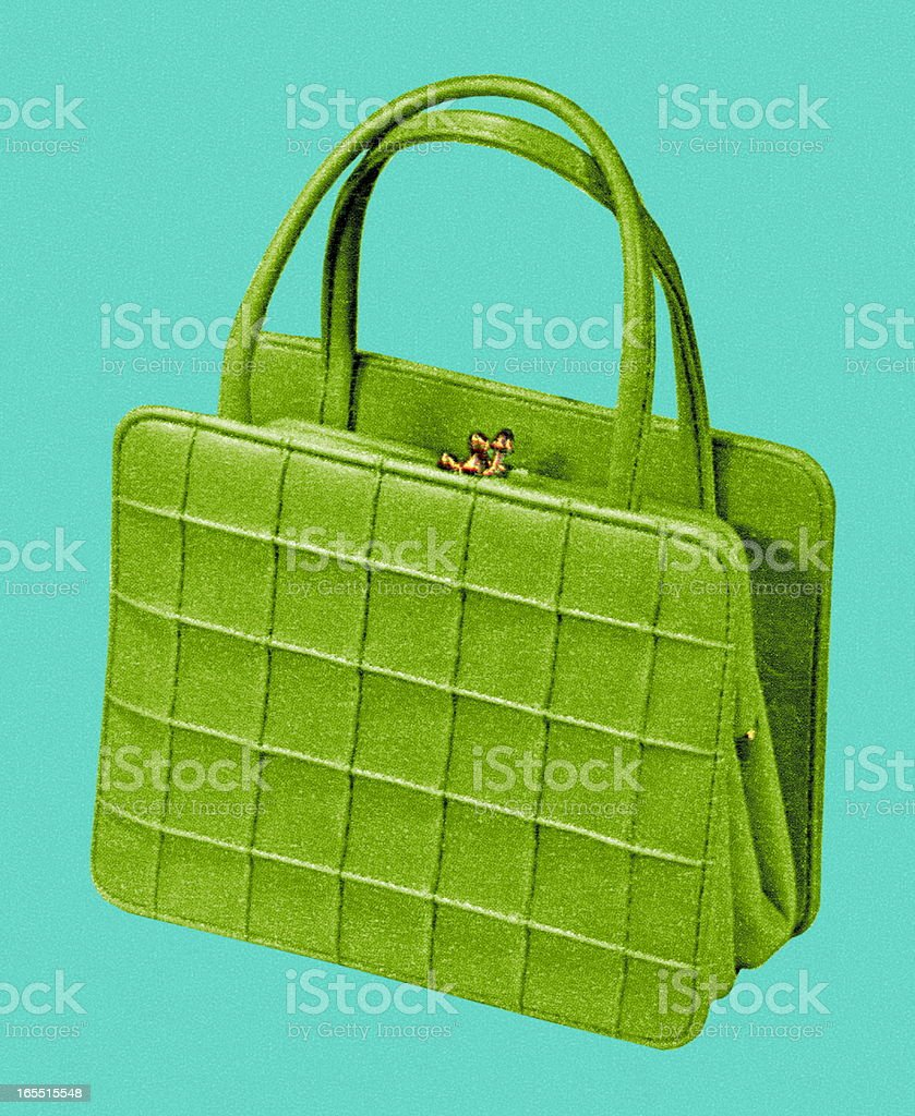 Green Handbag royalty-free stock vector art