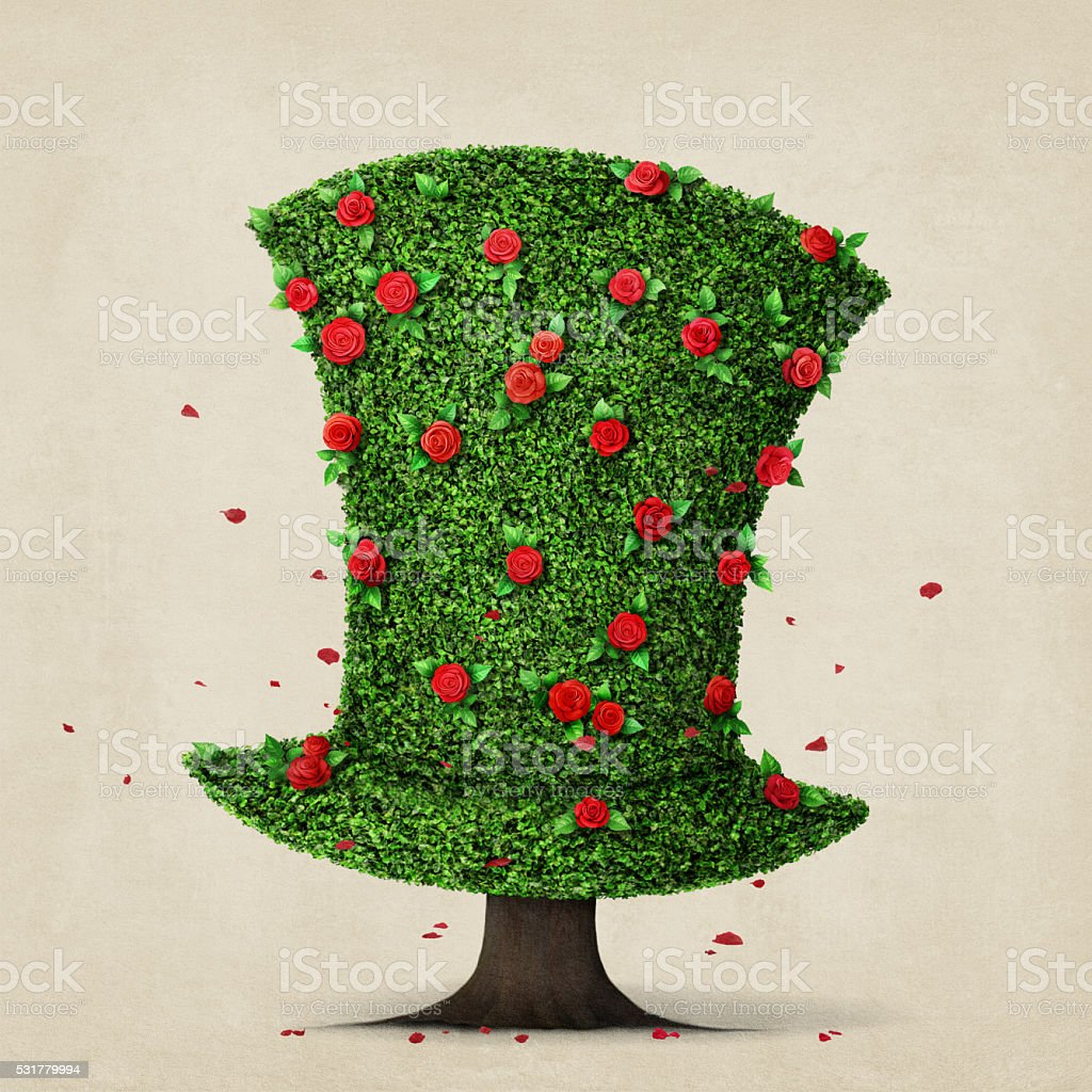 Green hat vector art illustration
