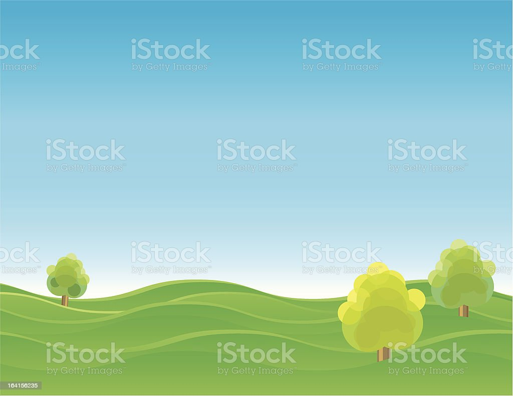 Green Hill royalty-free stock vector art