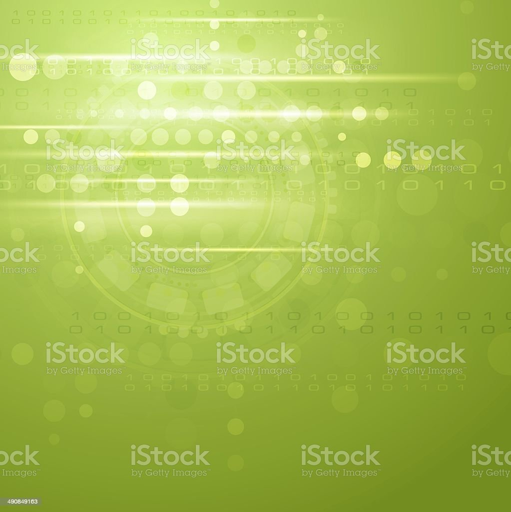Green hi-tech background royalty-free stock vector art