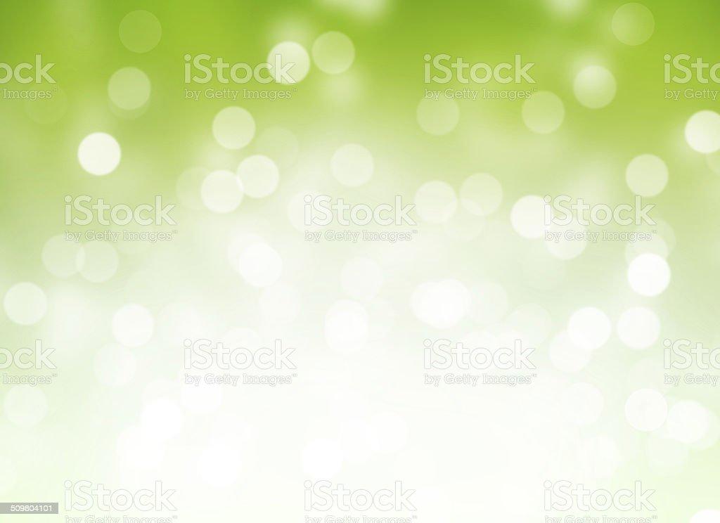 Green Holiday Lights vector art illustration