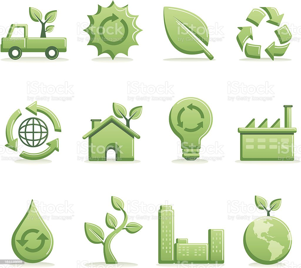 Green Icons | Premium Series royalty-free stock vector art