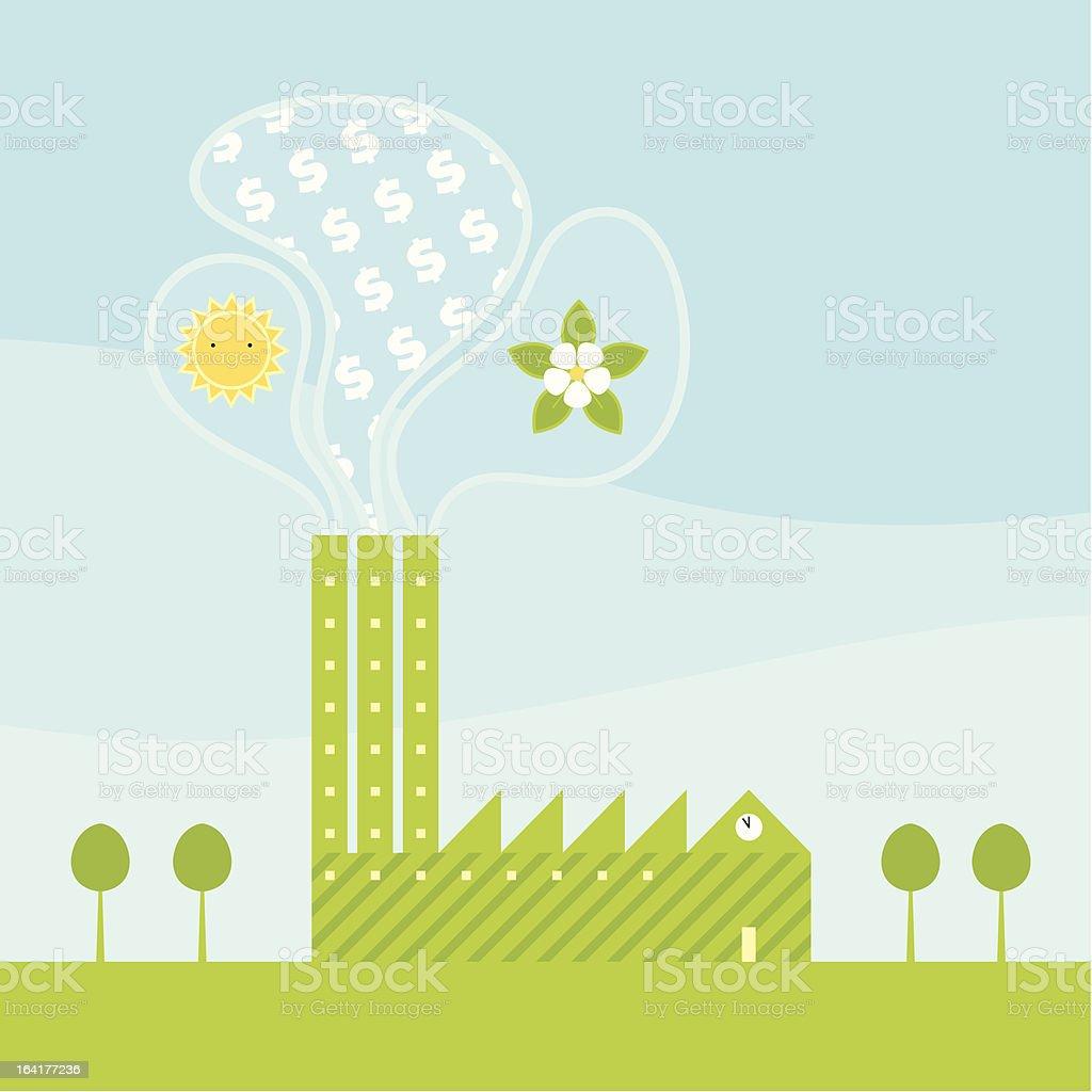 Green Industry royalty-free stock vector art