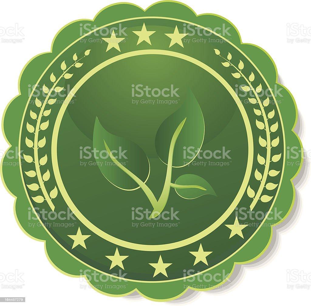 green label royalty-free stock vector art