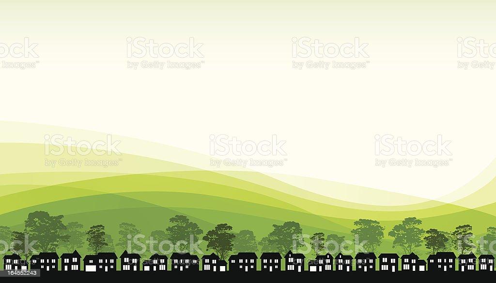 Green Living vector art illustration