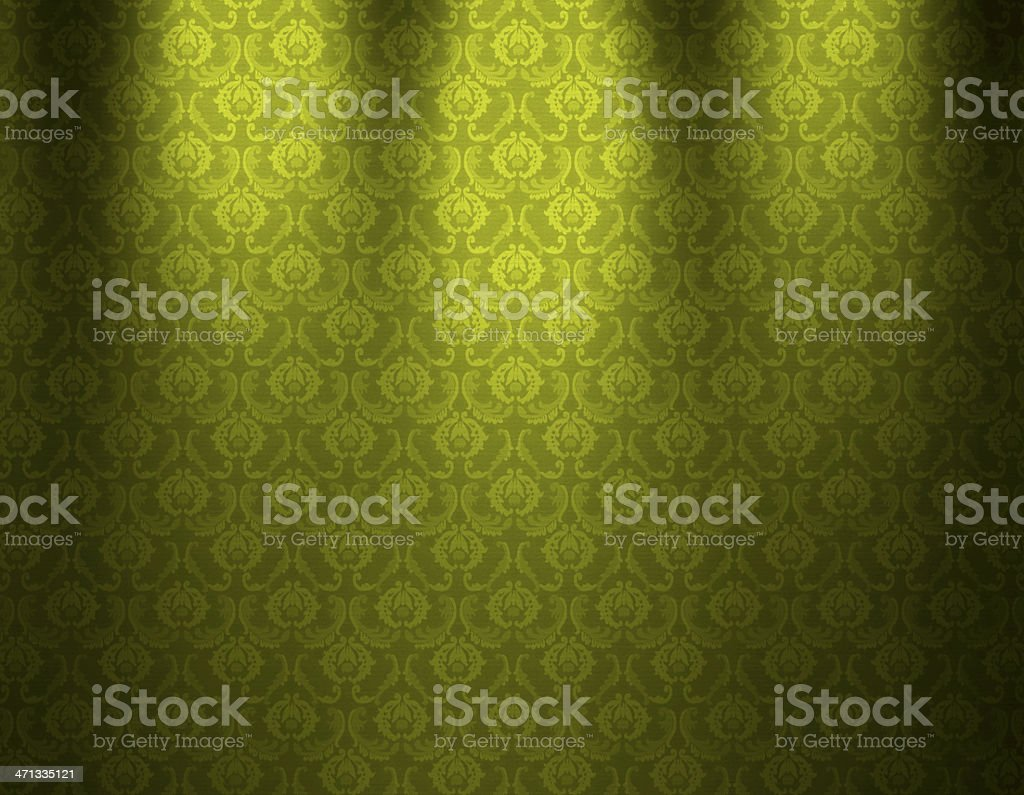 Green Luxurious Wallpaper royalty-free stock vector art