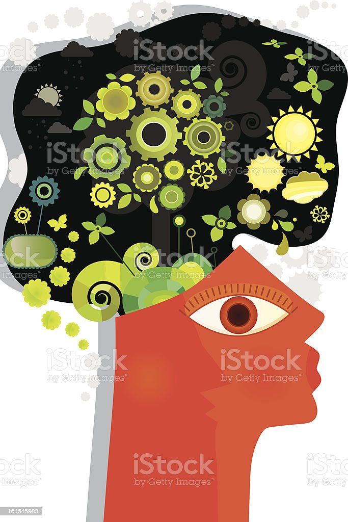 Green Mind royalty-free stock vector art