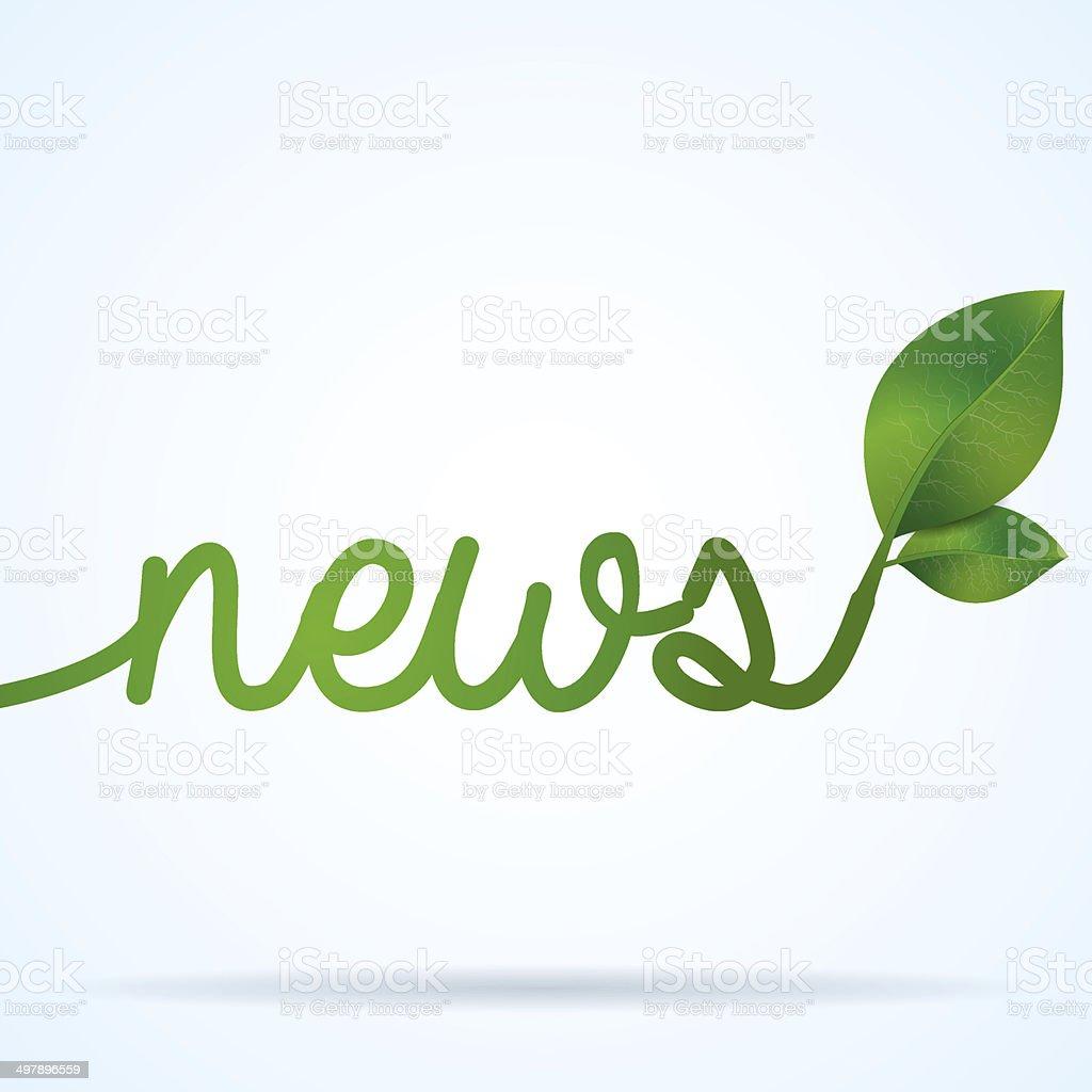 Green news vector art illustration