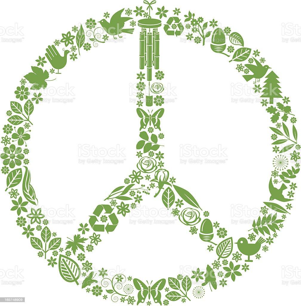 Green nuclear disarm. vector art illustration
