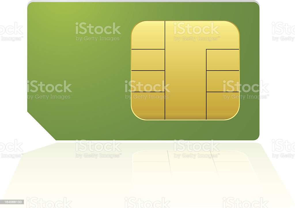 Green phone sim royalty-free stock vector art