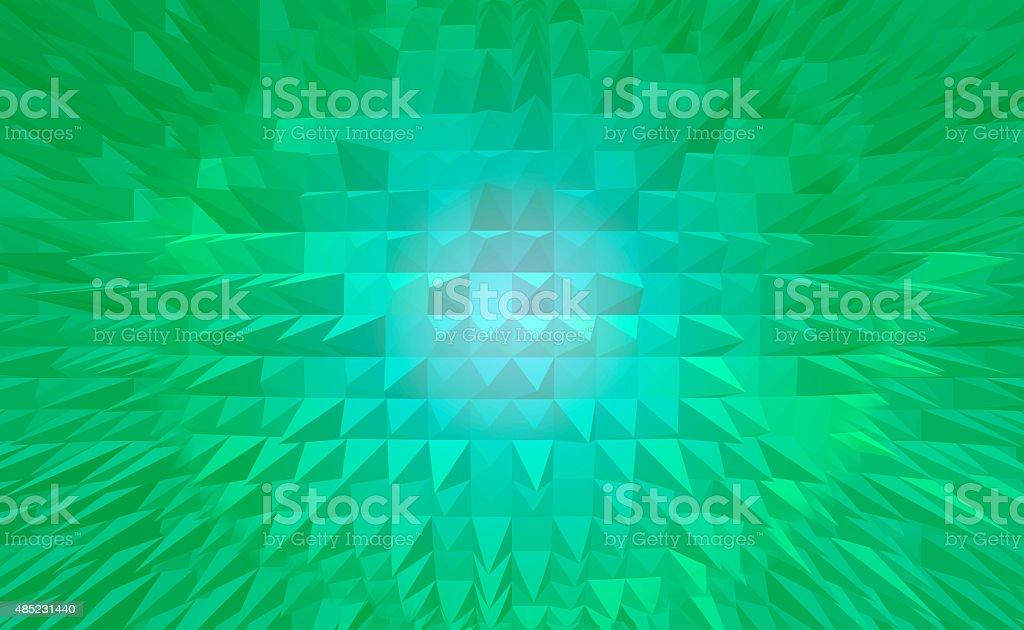 Zielony Piramida digital tło abstrakcyjne stockowa ilustracja wektorowa royalty-free