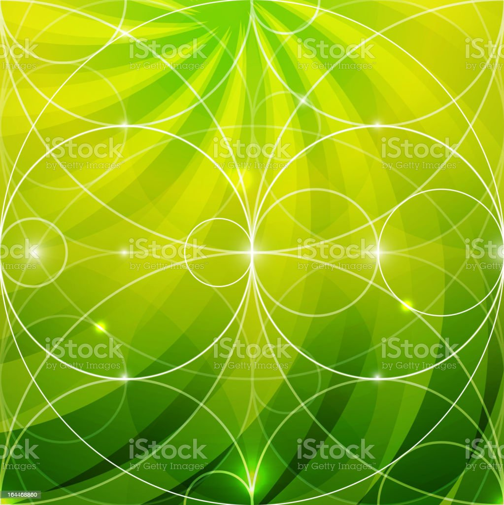 Green rays background royalty-free stock vector art