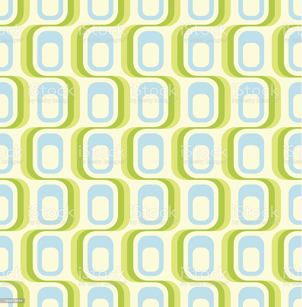 Green retro seamless pattern vector art illustration