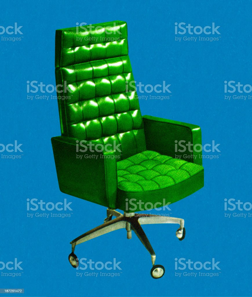 Green Rolling Chair royalty-free stock vector art