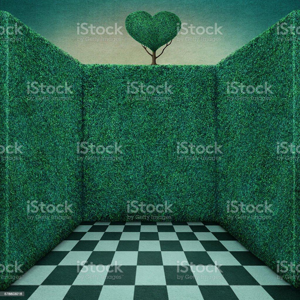 Green  room vector art illustration