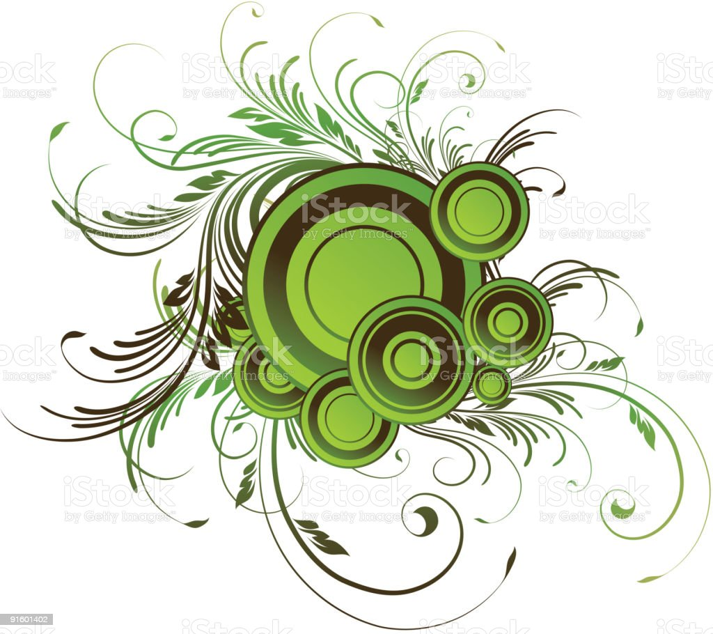 Green round design element royalty-free stock vector art