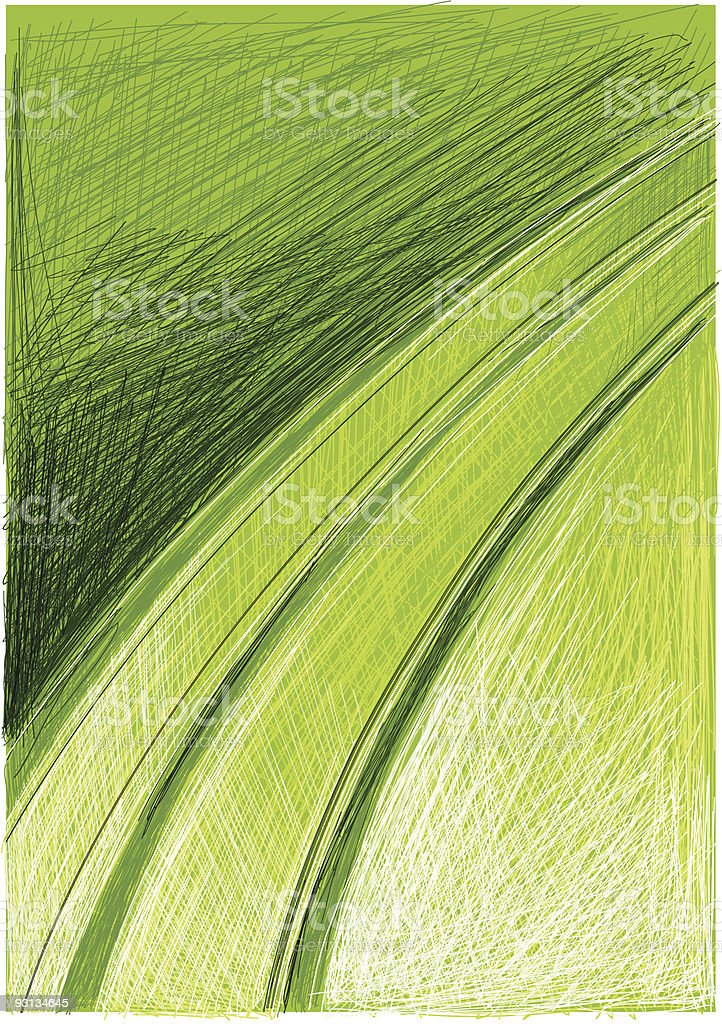 green scratch technic royalty-free stock vector art